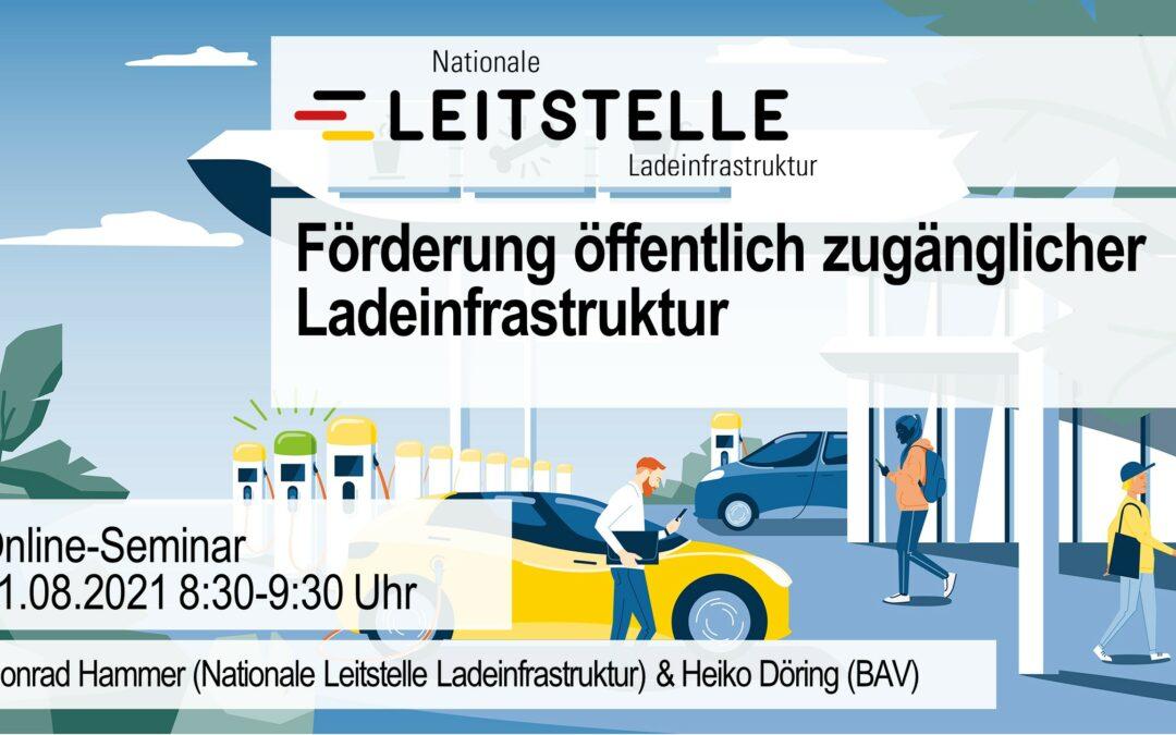 Online-Seminar: Förderung öffentlich zugänglicher Ladeinfrastruktur