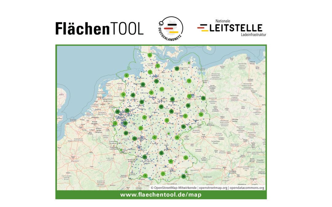 FlächenTOOL zeigt nun auch Deutschlandnetz-Suchräume