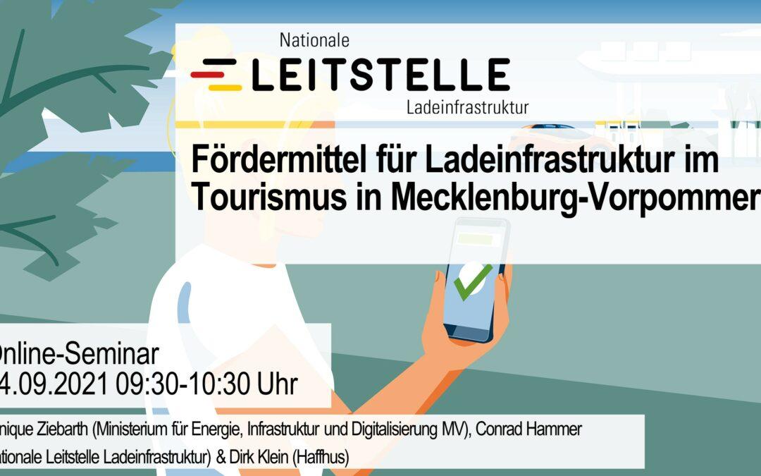 Online-Seminar: Fördermittel für Ladeinfrastruktur im Tourismus in Mecklenburg-Vorpommern